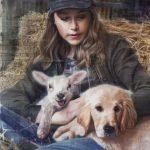 The Shepherdess 65 x 46 cms £4,300